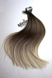 light ash blonde clip in hair extensions light ash brown balayage miellee hair extensions