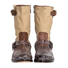 moto style boots brown u0026 beige moto style boots bunnyjack