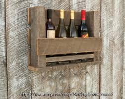 wooden wine rack etsy