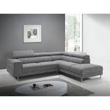 canapé famille nombreuse canapé d angle côté droit design 5 places avec méridienne mathis en