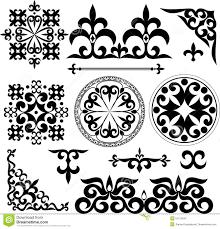 kazakh patterns stock vector image of geometric fragility 51214647