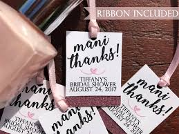 bridal shower favor tags thanks tags nail favor tags spa party baby