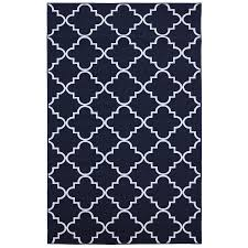 Blue And White Area Rugs Shop Mohawk Home Fancy Trellis Navy Blue Indoor Inspirational Area