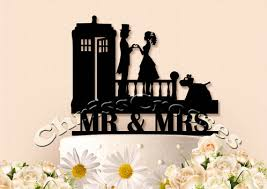 doctor who wedding cake topper dr who and tardis topper chrisscrosses