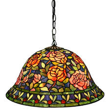 multi colored hanging lights warehouse of tiffany southern rose belle 2 light multicolored brown