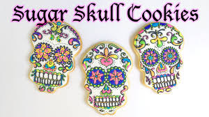 Decorated Halloween Sugar Cookies by How To Decorate Sugar Skull Cookies Youtube