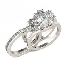 wedding set jeulia pear cut halo created chagne sapphire wedding set 3 85ct