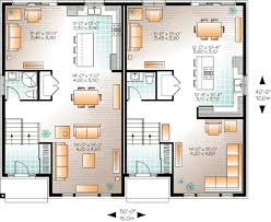 Multi Family Apartment Floor Plans Plan 22329dr Contemporary Semi Detached Multi Family House Plan