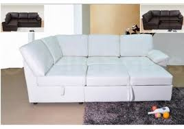 catchy white leather sofa bed with modern white leather sofa bed