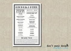 deco wedding program printable wedding program template great gatsby by studiodmd