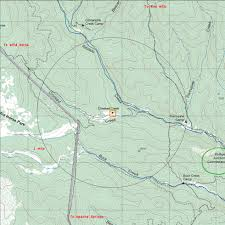 Philmont Scout Ranch Map Crooked Creek Camp