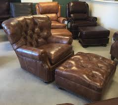 Leather Reading Chair And Ottoman Hancock U0026 Moore 4691 4690 Author Chair And Ottoman In Weston