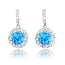 opal earrings stud opal earrings with clear cz halo that opal store