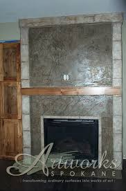 Hand Painted Fireplace Screens - skimstone fireplace surround embellished with hand painted vines