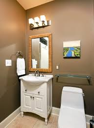 dc metro mocha brown color bathroom transitional with glass