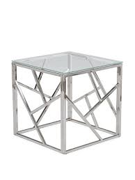 Chrome And Glass Coffee Table Aero Chrome Glass Side Table Glass Side Tables Modern And Glass