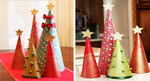 how to make wrapping paper tree decorations modernmom