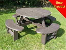 heavy duty round picnic table picnic tables picnic benches commercial heavy duty treated wood or