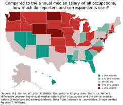how poorly are journalists paid depends on where you live poynter