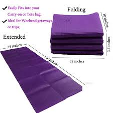 Travel yoga mat 6mm eco friendly non slip foldable yoga love online