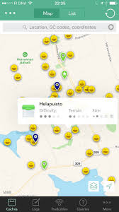 Geocache Map Review Cachly Geocaching App For Iphone 61 23 Tampere