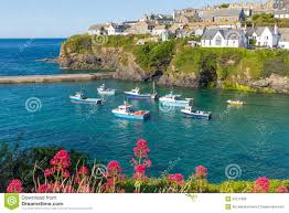 Port Isaac England Map by Port Isaac Village Cornwall England Uk Stock Photo Image