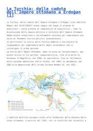 caduta impero ottomano la turchia dalla caduta dell impero ottomano a erdo茵an 1 agnelli