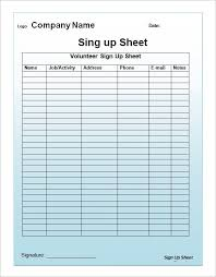 sign up list template sign up sheets 60 free word excel pdf