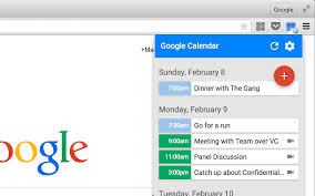 google calendar by google chrome web store