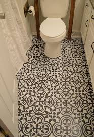 cheap bathroom flooring ideas so i painted our ugly linoleum hometalk