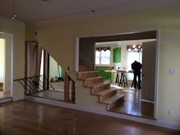 Replace Banister With Half Wall Removing The Wall Of Staircase