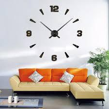 home decor wall nouvelle arriv礬e mur horloges moderne style montre mur autocollant