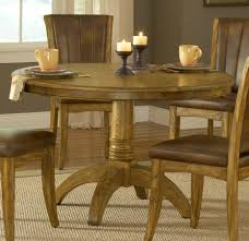 Round Dining Table Oak Hillsdale Grand Bay Round Dining Set With Caster Chair Oak