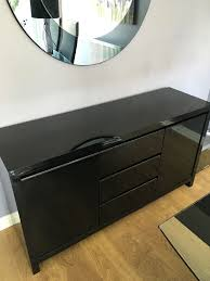 next black gloss sideboard in houghton le spring tyne and wear