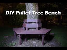 diy hexagonal tree bench from wood pallets 100 pallet wood 12
