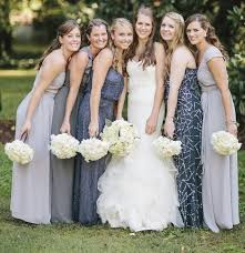 silver wedding dresses for brides 10 best combinations for mismatched bridesmaid dresses
