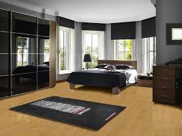 Cream Gloss Laminate Flooring Bedroom Tile Flooring Ideas Dark Brown Mattress Bed White Gloss