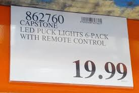 led puck lights costco capstone led puck lights 6 pack costco weekender