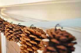 twig thistle diy pine cone garland