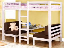 loft bed with couch and desk underneath bell home