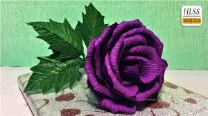 purple roses easy way to make purple paper flower diy crepe
