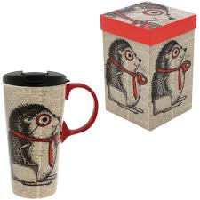happy hedgehog gift boxed travel mug the animal rescue site