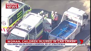 woman children involved in accident at strathfield