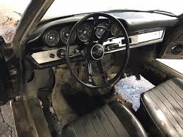 old porsche interior found under the barn 1967 porsche 912