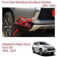 mitsubishi pajero sport 2017 black front side skirt body kits black painted for mitsubishi pajero