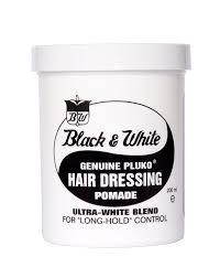 Red White Amp Blue Chocolate Black And White Pluko Hair Dressing Pomade 200ml Amazon Co Uk Beauty