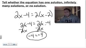 chapter 2 lesson 5 types of solutions of linear equations youtube