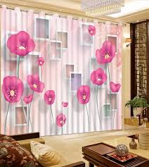 girl bedroom curtains pink flower curtains girls bedroom curtains 3d photo curtains for