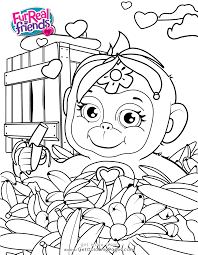 hasbro coloring pages hasbro furreal friends coloring pages cuddles monkey get