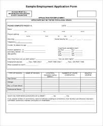 7 sample employment application free sample example format